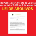 Consulta Pública sobre alteração da Lei de Arquivos!