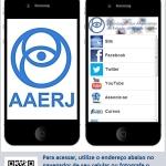 Aplicativo da AAERJ para smartphone