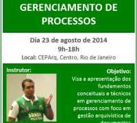 Em agosto: curso de Gerenciamento de Processos