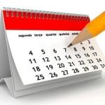 Calendário de eventos 2015