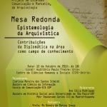 Mesa Redonda Epistemologia da Arquivística em 15/10 na UNIRIO