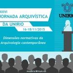 XXVI Jornada Arquivística da UNIRIO