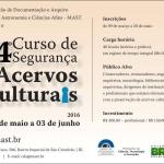 Curso de Segurança de Acervos Culturais no MAST
