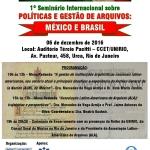1º Seminário Internacional sobre Políticas e Gestão de Arquivos: México e Brasil