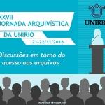 XXVII Jornada Arquivística da UNIRIO